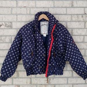 Obermeyer Vintage Ditto Floral Ski Jacket, Size 12